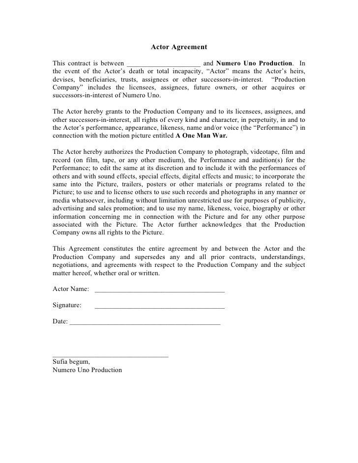 Actor agreement