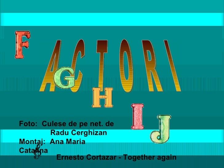 A  C  T  O  R  I Ernesto Cortazar - Together again Foto:  Culese de pe net. de Radu Cerghizan Montaj:  Ana Maria Catalina