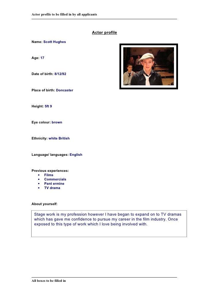 Actor Profile 1