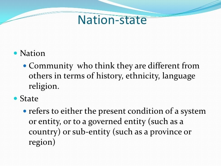 state vs nation state essay