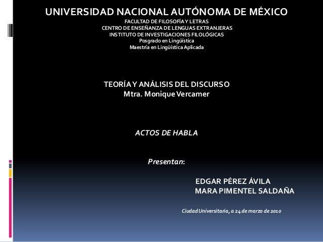UNIVERSIDAD NACIONAL AUTÓNOMA DE MÉXICO FACULTAD DE FILOSOFÍAY LETRAS CENTRO DE ENSEÑANZA DE LENGUAS EXTRANJERAS INSTITUTO...