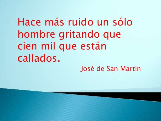Acto de San Martín.