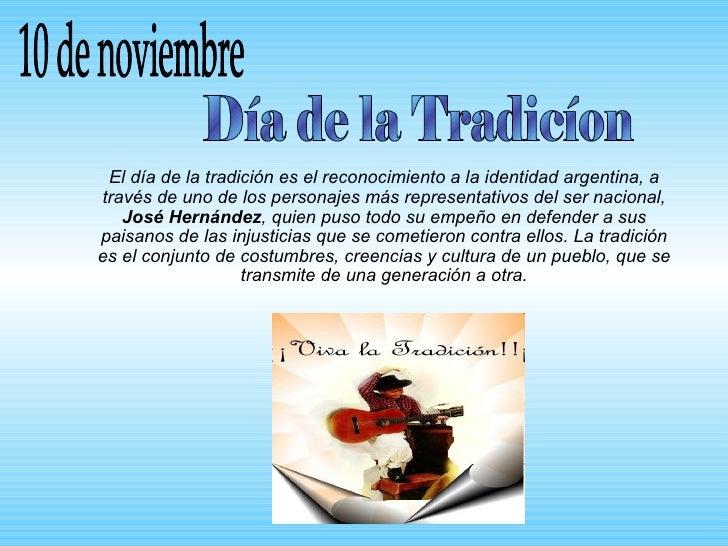 Hoy es el d a de la tradici n for Noticias del espectaculo del dia de hoy argentina