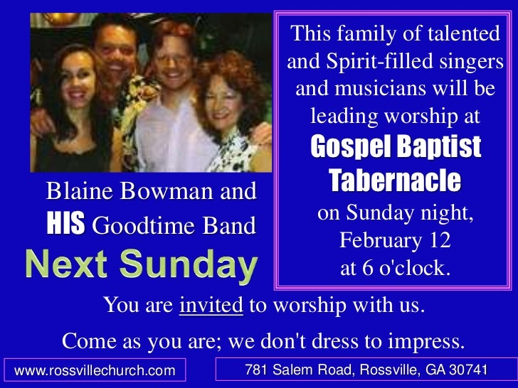 This family of talented                                 and Spirit-filled singers                                  and mus...