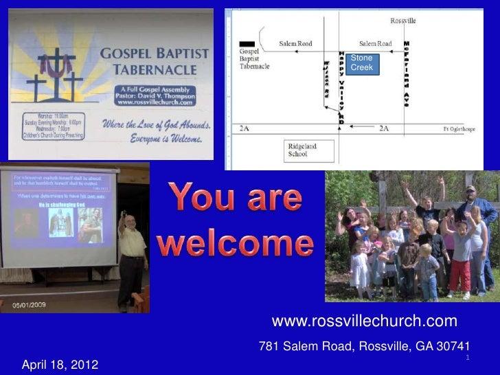 Stone                                Creek                   www.rossvillechurch.com                 781 Salem Road, Rossv...