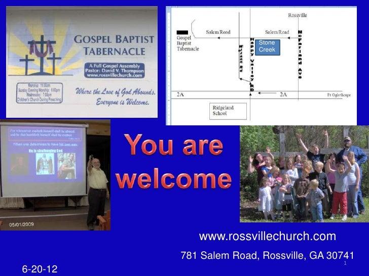 Stone                         Creek             www.rossvillechurch.com          781 Salem Road, Rossville, GA 30741      ...