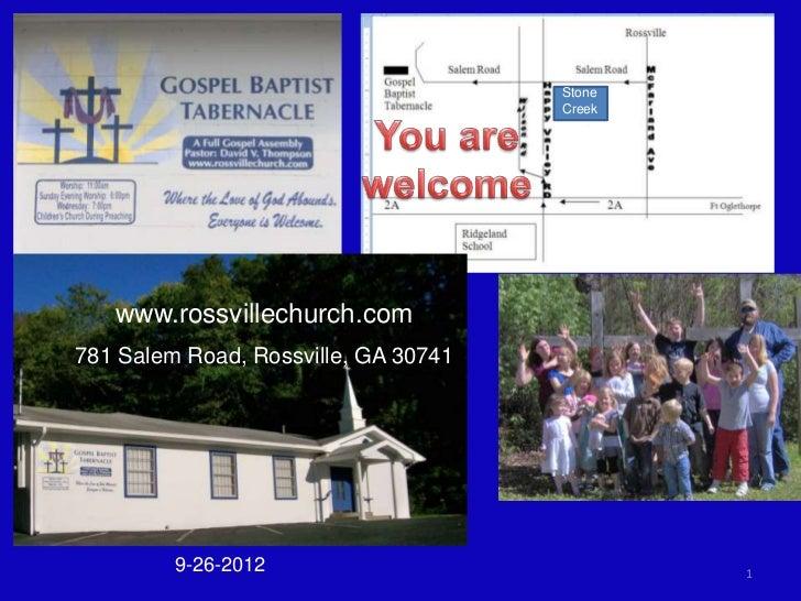 Stone                                      Creek   www.rossvillechurch.com781 Salem Road, Rossville, GA 30741         9-26...