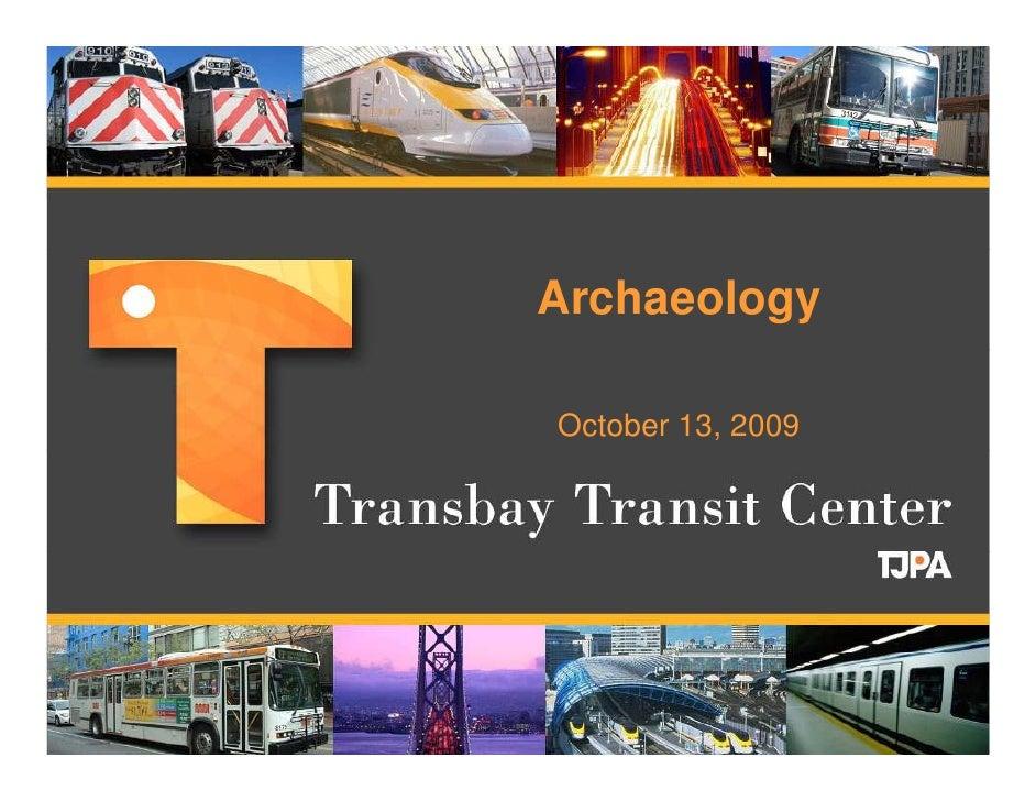 Transbay Terminal Archaeology