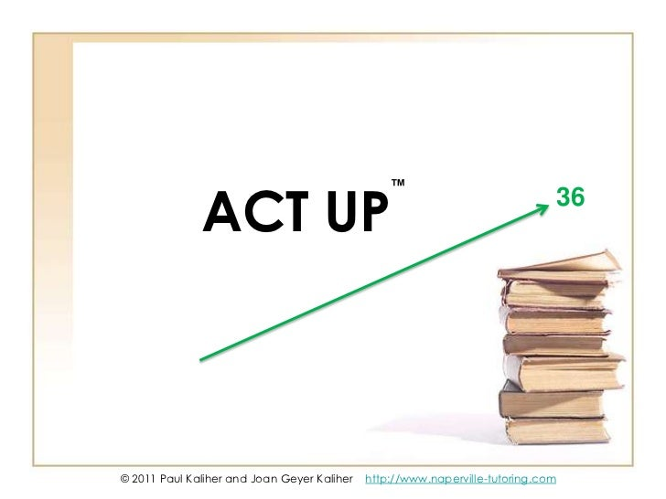 ™<br />36<br />ACT UP<br />© 2011 Paul Kaliher and Joan Geyer Kaliher    http://www.naperville-tutoring.com<br />