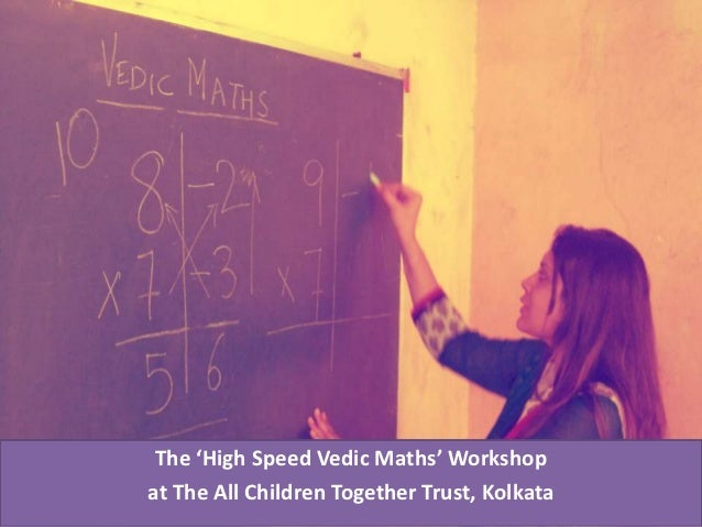 Vedic Maths Workshop at ACTT