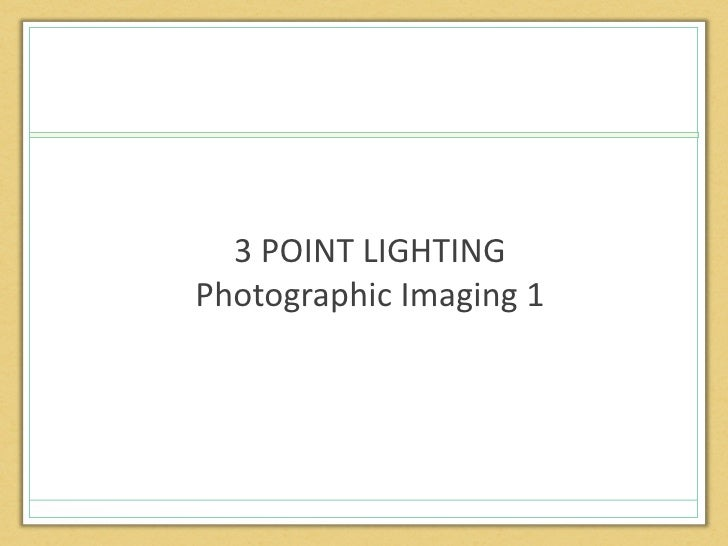 3 point lighting powerpoint