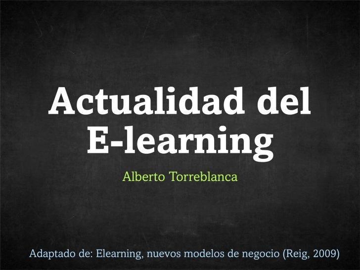 Actualidad del e-learning