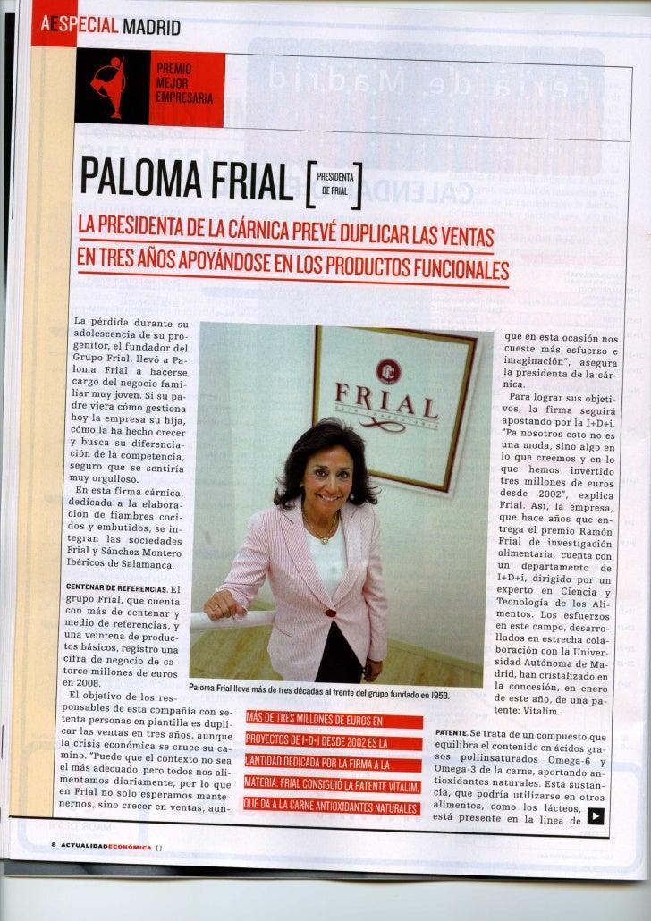 Paloma Frial en Actualidad Económica