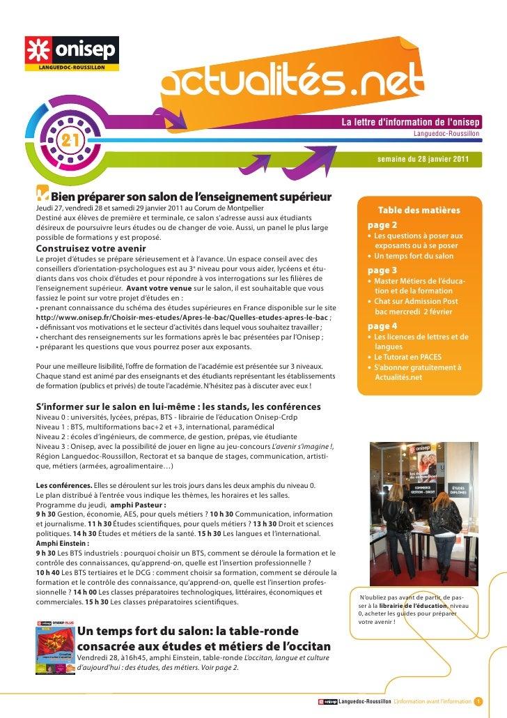 Actualité.net 21 du 29 janv11