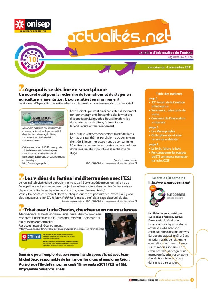 Actualitesnet n°10 4nov11 (1)
