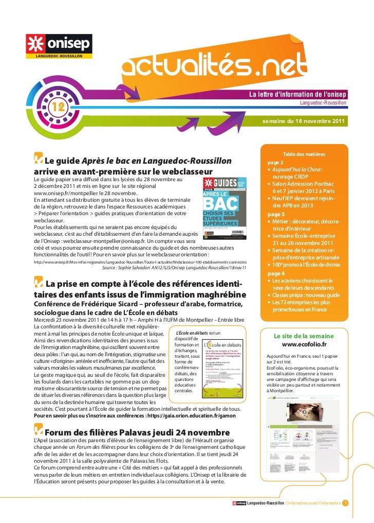 Actualitesnet n°12 18nov11