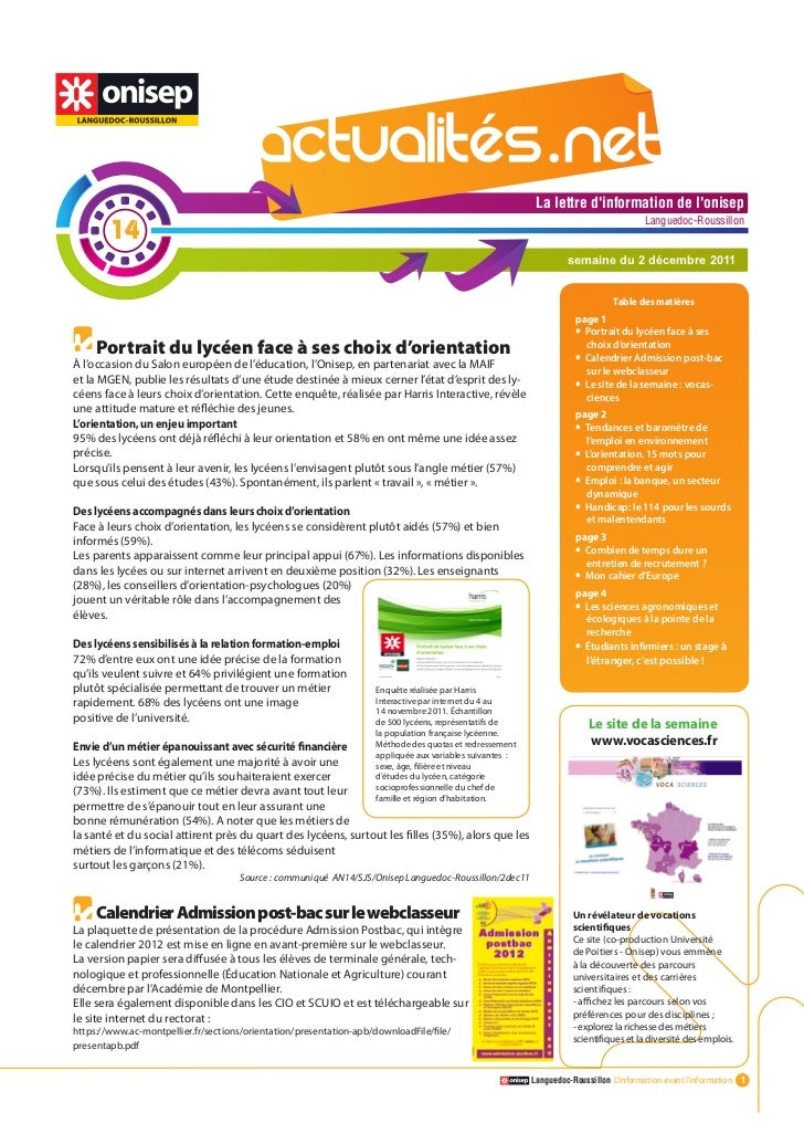 Actualitesnet n°14 2dec11