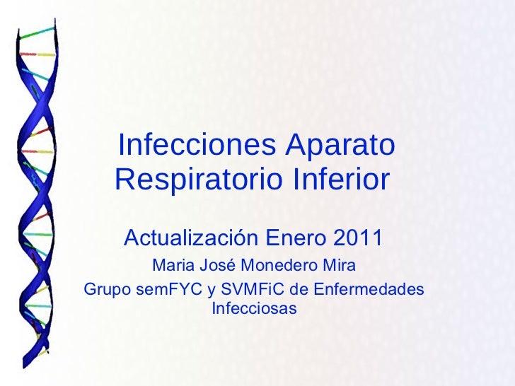 Actualización Enero 2011 Maria José Monedero Mira Grupo semFYC y SVMFiC de Enfermedades Infecciosas