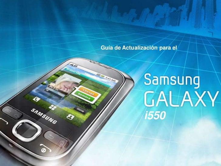 Actualización a froyo samsung galaxy 550 (i5500)
