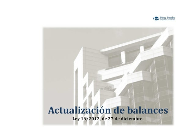 Actualización de balances