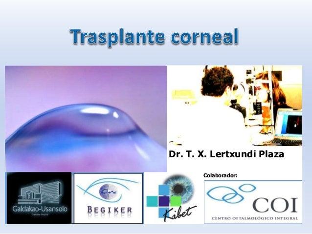 Colaborador: Dr. T. X. Lertxundi Plaza