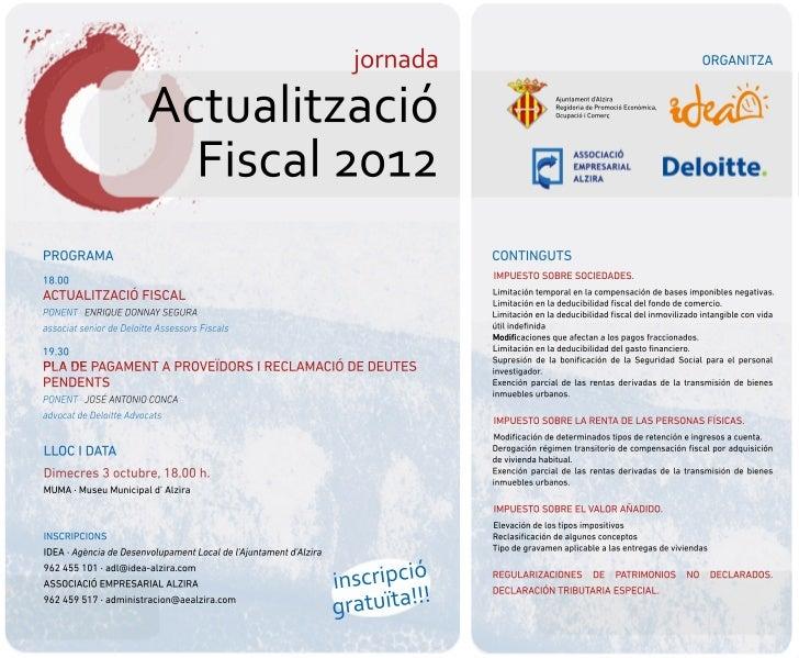 Jornada sobre Actualización Fiscal