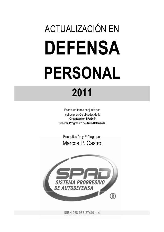 Actualizacion Defensa Personal 2011