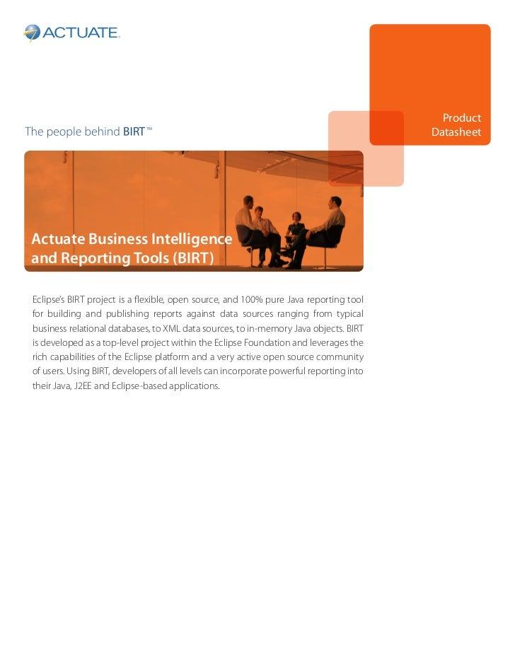 Product                                                                                         DatasheetActuate Business ...