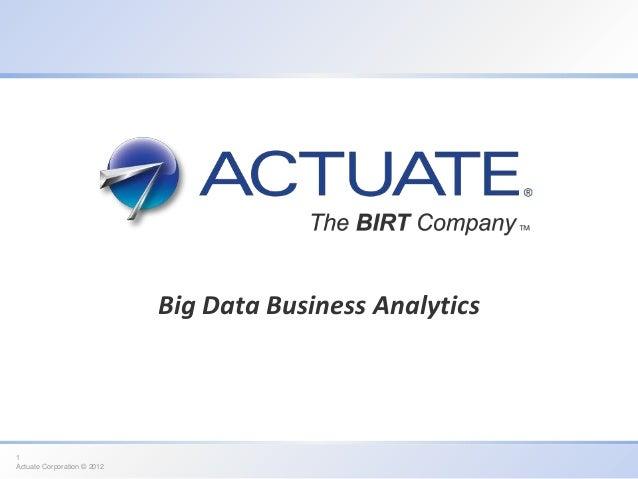 ActuateOne for Utility Analytics