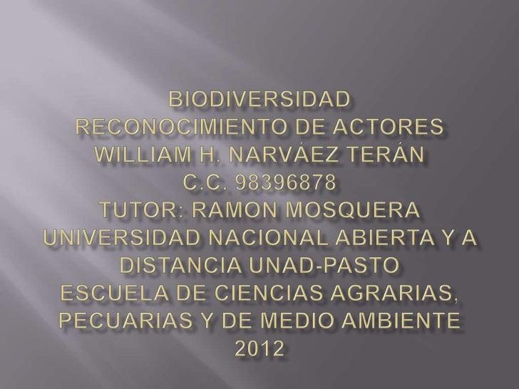 Actvidad 2 reconocimiento de actores biodiversidad