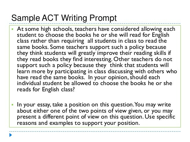 Act Essay Sample