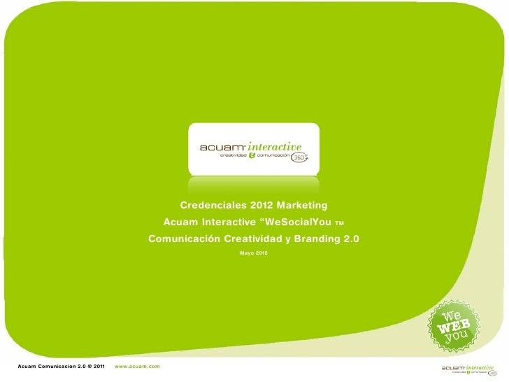 Credenciales                                                  Credenciales 2012 Marketing                                 ...