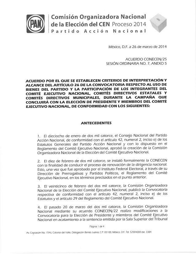 Acuerdo conecen 25