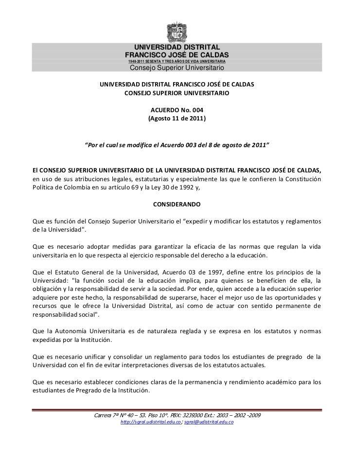 UNIVERSIDAD DISTRITAL                                 FRANCISCO JOSÉ DE CALDAS                                   1948-2011...