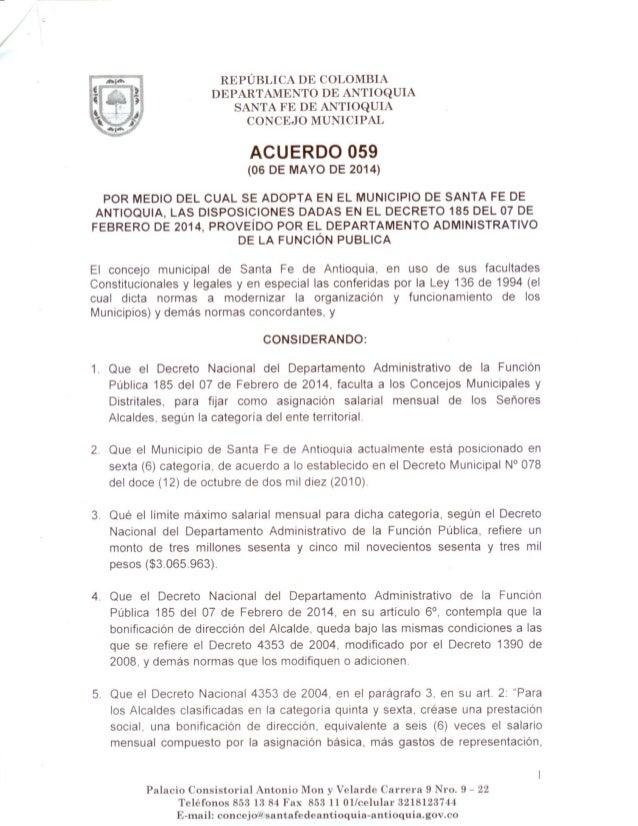 Acuerdo 059 sancionado