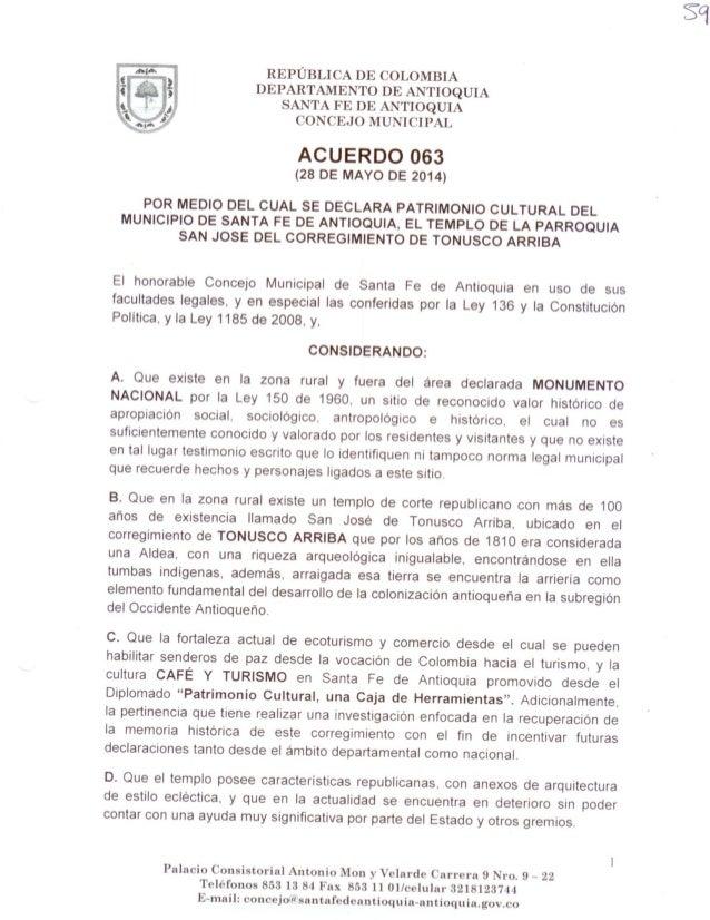 Acuerdo 063