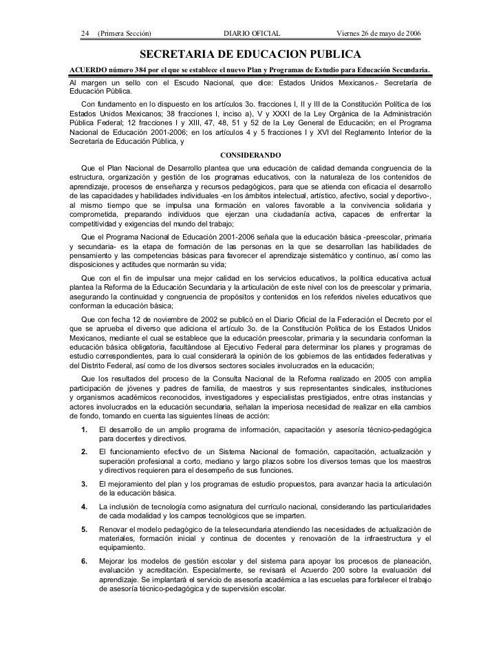 24    (Primera Sección)                       DIARIO OFICIAL                      Viernes 26 de mayo de 2006              ...