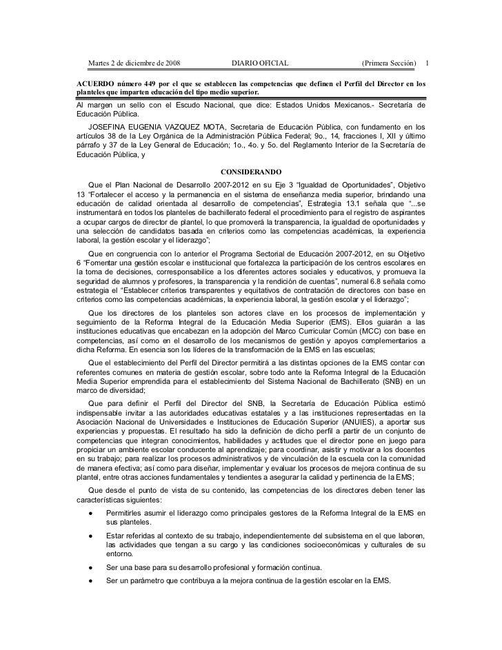 Martes 2 de diciembre de 2008               DIARIO OFICIAL                           (Primera Sección)   1ACUERDO número 4...