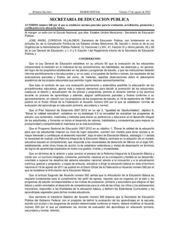 (Primera Sección)                          DIARIO OFICIAL                     Viernes 17 de agosto de 2012                ...