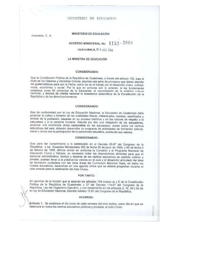 Acuerdo Acto CíVico