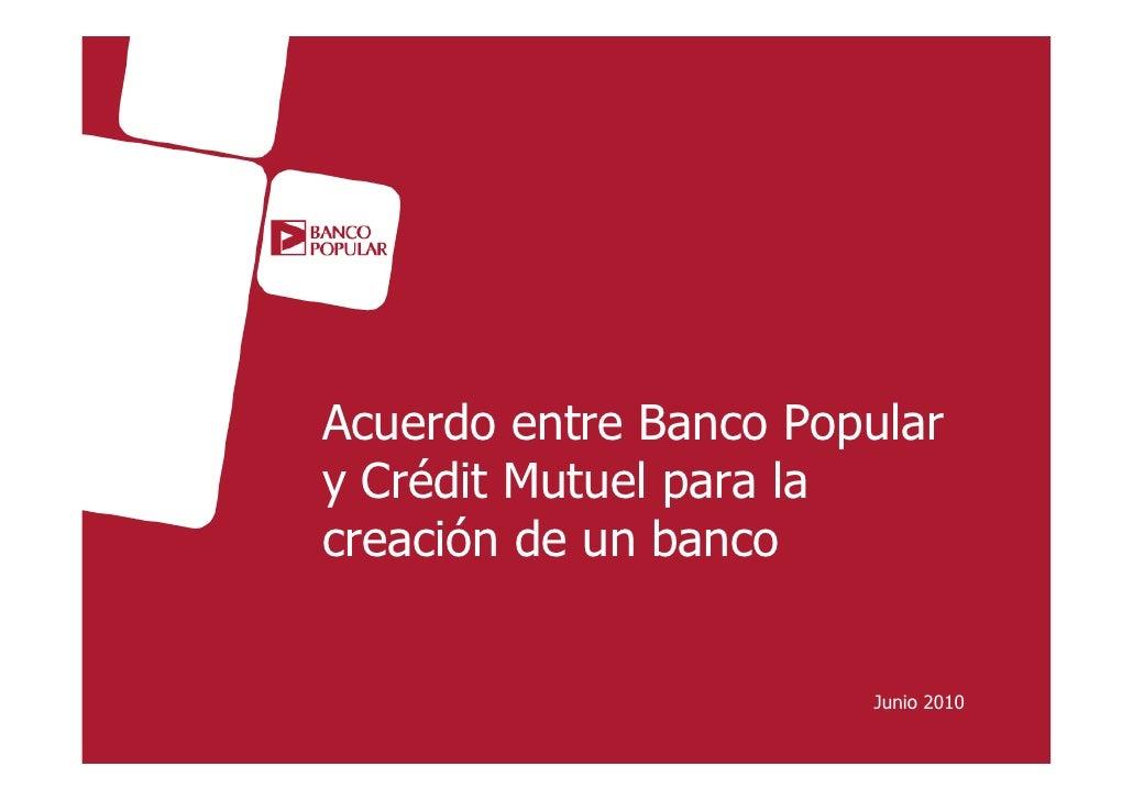 Angel Ron y Crédit Mutuel: Acuerdo para la creación de un banco en tiempos de crisiss