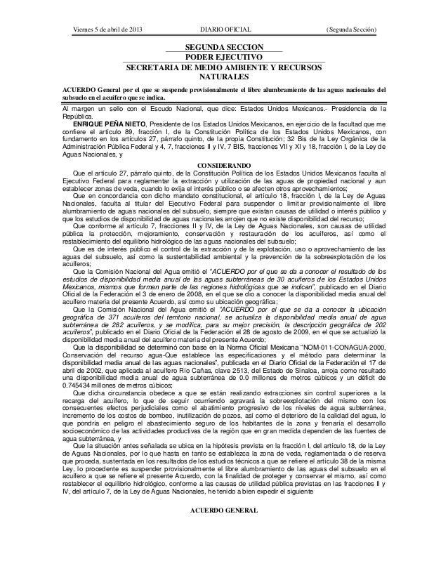Acuerdo general por el que se suspende provisionalmente el libre alumbramiento de las aguas nacionales del subsuelo en el acuífero que se indica