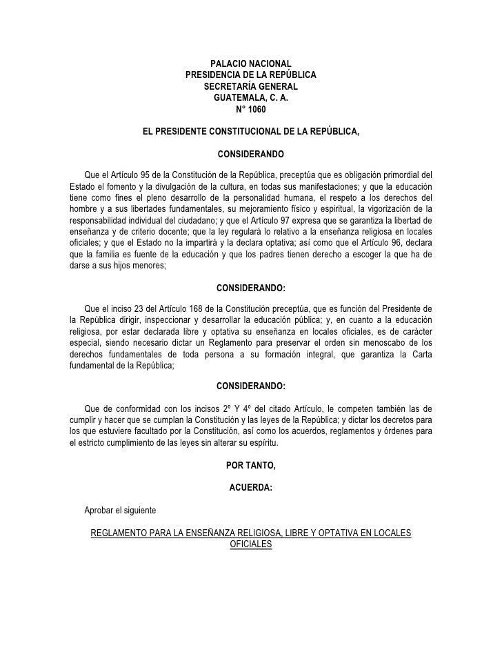PALACIO NACIONAL                                 PRESIDENCIA DE LA REPÚBLICA                                    SECRETARÍA...