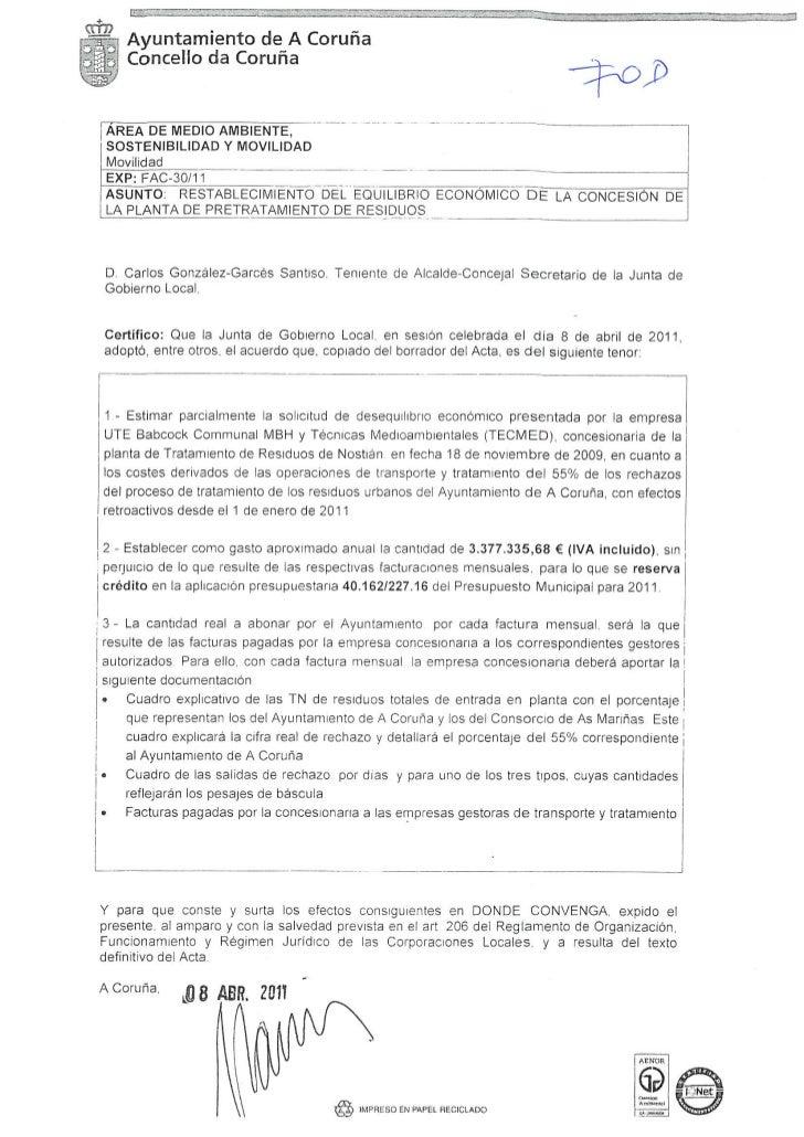 Acuerdo junta gobierno local