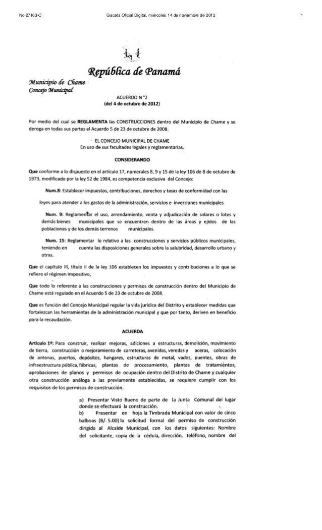 No 27163-C   Gaceta Oficial Digital, miércoles 14 de noviembre de 2012   1