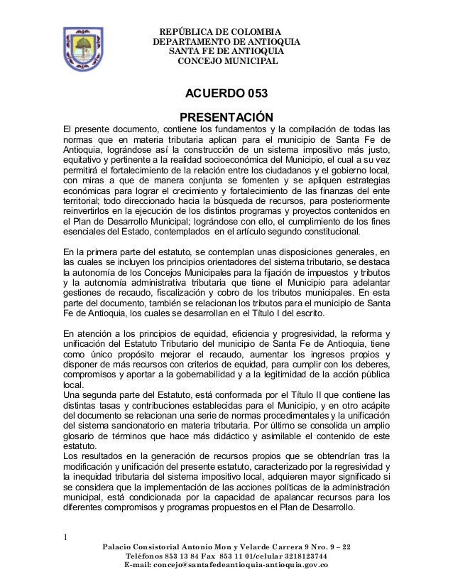 ACUERDO N° 053