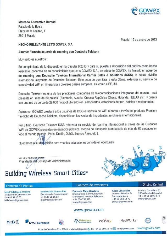 GOWEX amplía su servicio WiFi Gratis mediante un acuerdo de Roaming con Deutsche Telekom