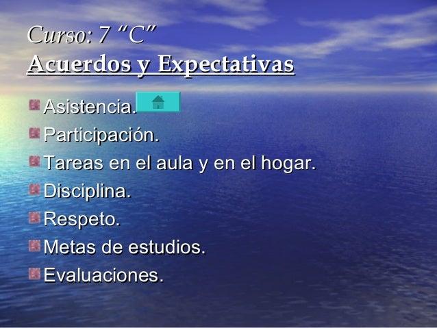 """Curso: 7 """"C""""Curso: 7 """"C""""Acuerdos y ExpectativasAcuerdos y ExpectativasAsistencia.Asistencia.Participación.Participación.Ta..."""