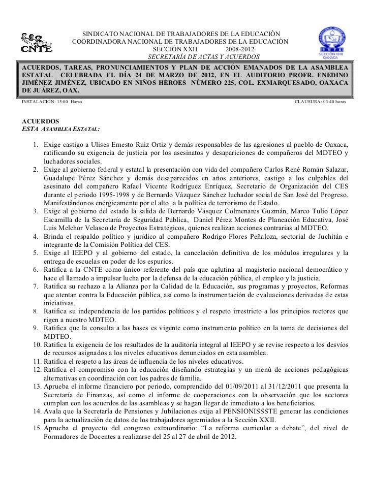 SINDICATO NACIONAL DE TRABAJADORES DE LA EDUCACIÓN                    COORDINADORA NACIONAL DE TRAB...