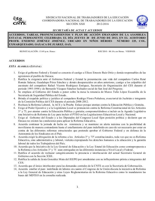 1  SINDICATO NACIONAL DE TRABAJADORES DE LA EDUCACIÓNCOORDINADORA NACIONAL DE TRABAJADORES DE LA EDUCACIÓNSECCIÓN ...